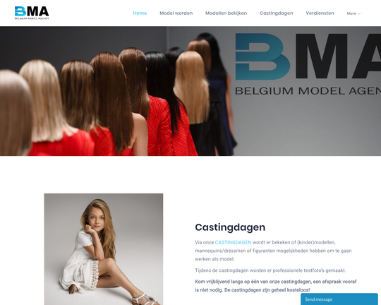 Belgium Model Agency Logo